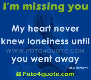 Missing you – Feeling so lonely after you